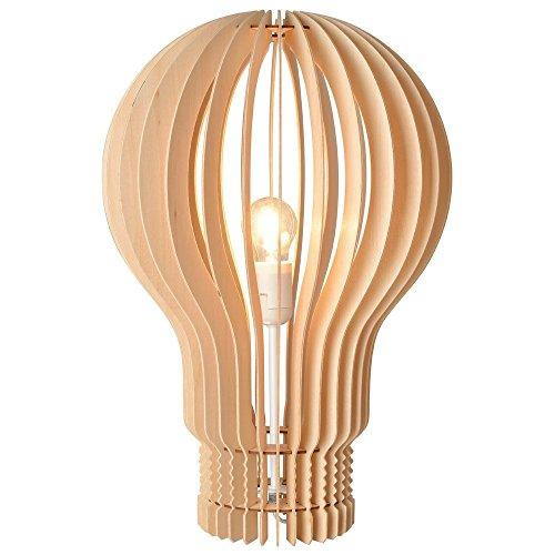 Lampe Ampoule Lames Bois naturel Beige La chaise longue 35-1L-001