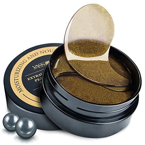 Erisl 60 Stücke Augenmaske Hautpflege Black Pearl Gel Maske Kollagen Kristall Schlafen Augenklappe Dunklen Kreis Augenlid Anti-falten Feuchtigkeit