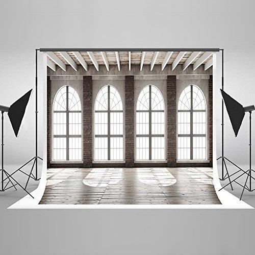 KateHome PHOTOSTUDIOS 3x2m Innenraum Foto Hintergrund Fenster Hintergrund Hochzeit Foto Hintergrund Holz Porträt Mikrofaser Hintergründe für Fotostudios