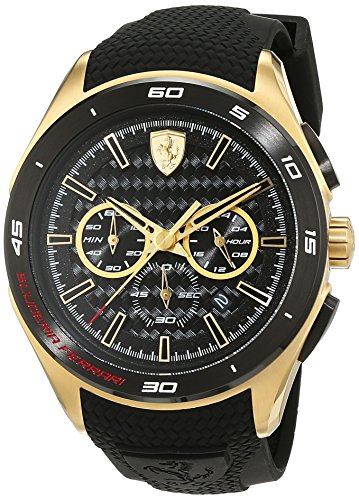 Scuderia Ferrari Mens Quartz Watch, Analogue Classic Display and Silicone Strap 0830346