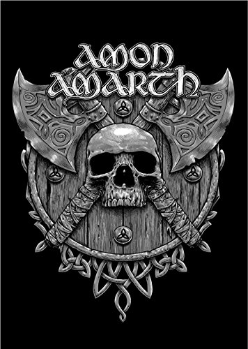 Amon Amarth Skull and Axes band logo offiziell Textile Flag Poster 105cm x 65cm
