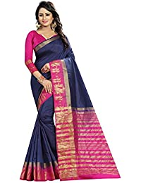 SATYAM WEAVES WOMEN'S ETHNIC WEAR KANJIVARAM COTTON SILK SAREE. (BARAAT)