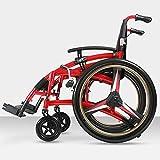 Leichter faltender älterer Rollstuhl der Aluminiumlegierung, der medizinische erwachsene medizinische Versorgungsmaterialien, Reise des behinderten Wagens fährt
