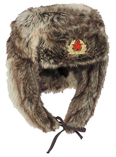 russ.Wintermütze 'Shapka' braun Gr.M