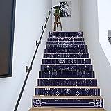 Treppenaufkleber weihnachten Verkleiden Sich Papier Selbstklebende Abnehmbare Aufkleber Dekoration Treppe Aufkleber 18CM*100CM * 13 Teile/Set
