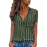 Damark Donna Camicetta Blusa Elegante Collo a V Maniche Lunghe T-Shirt Crop Top Ragazza Moda Maglia Maglione Pullover Elegante Camicetta Magliette Maglietta Donna Tops (Z Verde, Medium)
