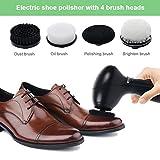 Pulidora de zapatos eléctricos, limpiador de depurador automático de zapatos Pinza de limpieza de zapatos portátil recargable para zapatos, bolsos y ropa