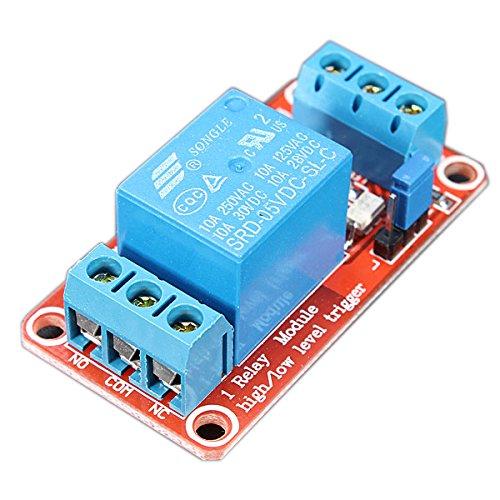 LaDicha Module De Relais D'Optocoupleur De Déclenchement De Niveau De Canal De 5V 1 pour Arduino