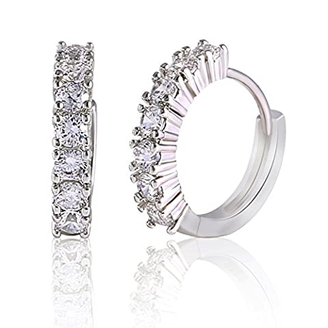 GULICX Valentine's Gift White Gold Electroplated Channel Set Zircon Hinged