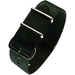 italianice cn-black-22it-Nylon Strap, Black (22)