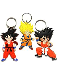 Techpro Dragon BallZ All In One Pack Keychain With Doublesided Anime Dragon BallZ Goku Design (3Pcs)