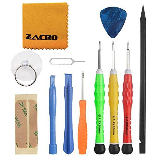 Zacro 13 in 1 Premiumer Reparatur Werkzeug Set Kit für iPhone, iPad, iPods und andere Smartphones oder Kleingeräte (Handy-bildschirm-reparatur-kit 4s)