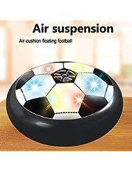 Forfar Disque de football Air Power Multicolore Lumière LED Puissance aérienne Soccer Hover Football Glide Disk Float Disc Fun Children Kids Game