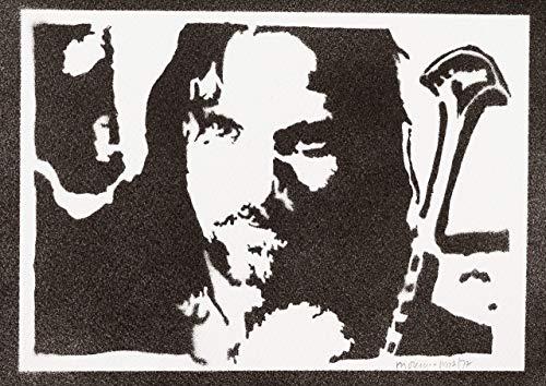 Aragorn Herr Der Ringe (The Lord Of The Rings) Poster Plakat Handmade Graffiti Street Art - Artwork
