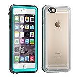 Funda impermeable iPhone 6s Plus , Eonfine Funda para iPhone 6 Plus protectora transparente IP68 Certificado con Touch ID Protector de pantalla incorporado resistente a los golpes para iPhone 6 / 6s Plus 5.5 Teal