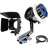 CAMSMART®DSLR Matte Box pour 15mm mise au point suivi de Support de Rod Rail système D90 5 60 D 600 D nouveau Matte Box avec Focus suivre F0 Finder avec Gear ceinture pour DSLR et caméras vidéo