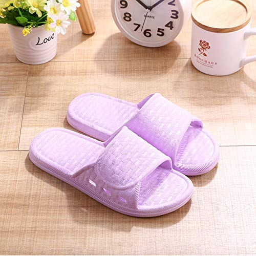 Qsy shoe Hausschuhe in Candy-Farbe für Zuhause Rutschfeste Hausschuhe aus Kunststoff, lila, 40-41