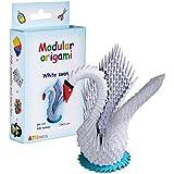 Origami modulaire 428-Pièces - Set papier petit cygne, blanc