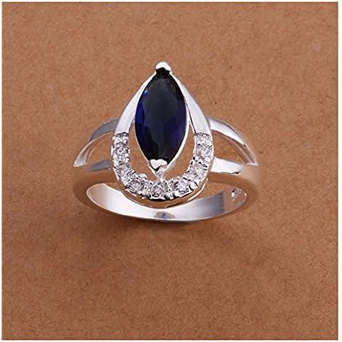 El compromiso de la princesa HMILYDYK 925 plata con incrustaciones de diamante joyería del anillo