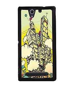 PRINTVISA Abstract Art Case Cover for Sony Xperia C4 Dual E5333 E5343 E5363::Sony Xperia C4 E5303 E5306 E5353