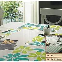 Bambus Platzset 4er Platzdeckchen Tischmatten Platzmatte Untersetzer