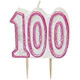BLING Party Decorations and Tableware for 100th Birthday in PINK Glitz