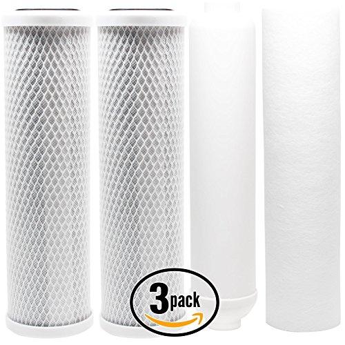 Watt Ro-system (3er Pack Ersatz-Filter Kit für Watt w-525RO System–inkl. Carbon Block Filter, Sediment Filter & Inline Filter Kartusche–Denali Pure Marke)