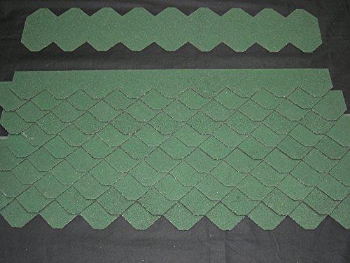 Mini Dachschindeln Schiefer (55 mm) - Set - Grün 23.427 Dachschindel Test