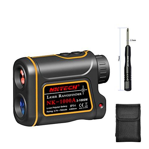 Nktech telemetro laser telemetro laser Outdoor caccia Golf 600m 1000m 1200m 1500m 4-in-18x telescopio velocità altezza angolo misuratore di distanza con batteria