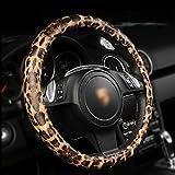 """jiyijewelry (TM)–Funda para volante, tamaño de 15"""", Estampado de leopardo, 15 Inch or 38CM"""
