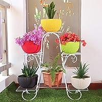 Livzing 6 Tier Metal Plant Pot Stand Display Shelf Indoor Outdoor Flower Rack Holder - Planter Shelves - Home Garden…