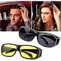 Trevik Day & Night Vision Driver Goggles Unisex HD Vision Sun Glasses Car Driving Glasses UV Protection Polarized Sunglasses Eyewear