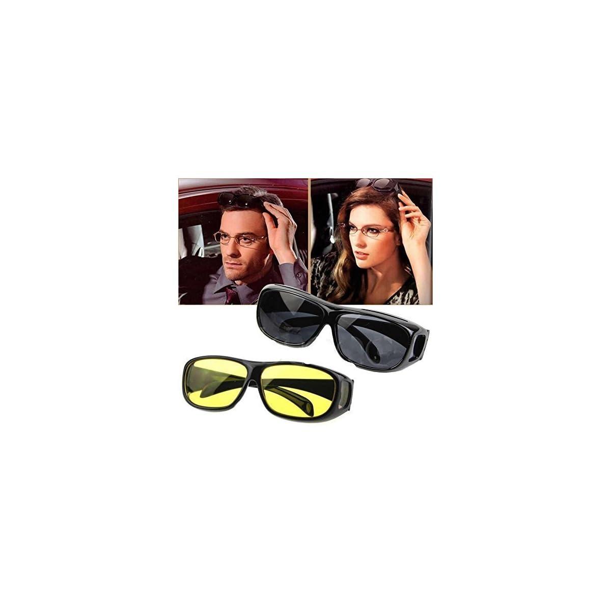 59e4f18a034d Bulfyss Hd Vision Anti Glare Sunglasses Wrap Around Day   Night ...