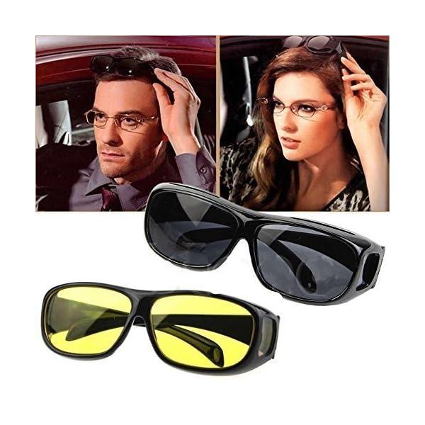 e8aafba4067a Bulfyss Hd Vision Anti Glare Sunglasses Wrap Around Day   Night Driving