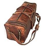 Weekender Leder Reisetasche 80l Qualität Vintage Design Damen Herren Braun Groß 72x33x33