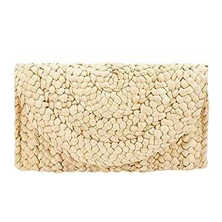TWIFER Monedero de Paja, Bolsa de Playa de Verano Bolso de Mano de Mujer Envelope Flat Clutch Mujer Bolso bolsos playa 2019 Nuevo estilo retro bolso