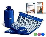 Hochwertiges Akupressur-Set mit Akupressur-Matte & Akupressur-Kissen - inkl. Gebrauchsanweisung - bewährte Methode gegen Nacken- & Kopfschmerzen - Massagematte für eine