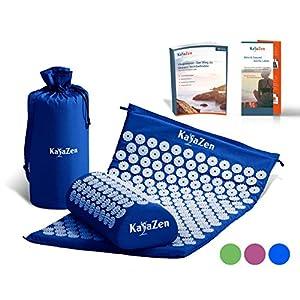 Hochwertiges Akupressur-Set mit Akupressur-Matte & Akupressur-Kissen – inkl. Gebrauchsanweisung – bewährte Methode gegen Nacken- & Kopfschmerzen – Massagematte für eine wirkungsvolle Therapie Zuhause