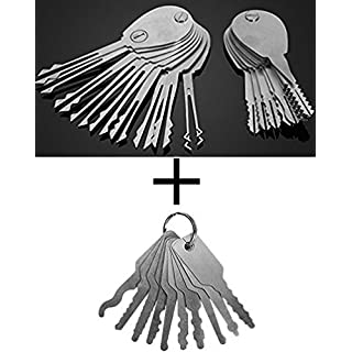 Dmaxia Foldable Auto Car Door Lock Opener Double Sided Lock Pick Keys Tools Set Locksmith Picking Practice Stainless Steel Training Kit