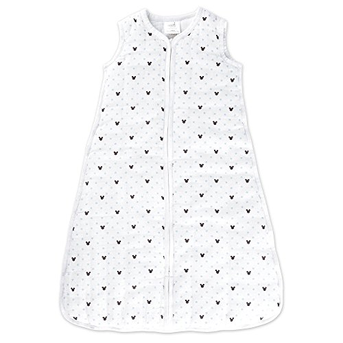 aden by aden + anais gigoteuse cozy plus, mousseline 100% coton et molletonnage 100% polyester, 2.5 TOG, graphic Mickey, small