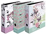 Herlitz Ordner Mix A4 Ladylike Roses, Butterfly und Bloom maX.file, 8 cm (3 Ordner, Ladylike sortiert)