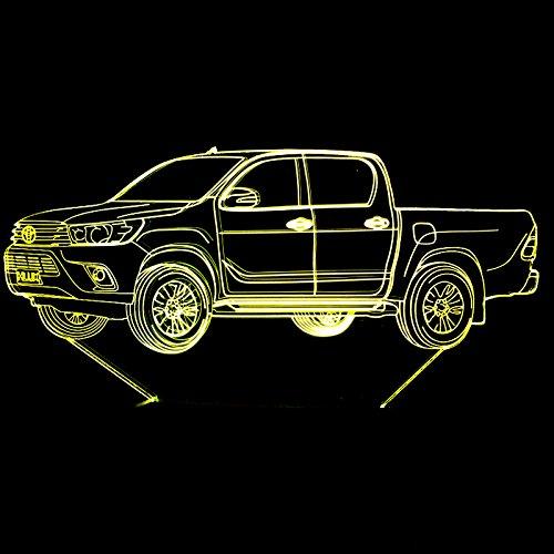 Neue pickup auto 3d lampe 7 farbe touch control led visuelle lampe drahtlose led nachtlicht power led usb 3d leuchten