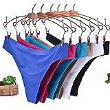 feiXIANG Damen Eis Seide Nahtlose Stück Unterwäsche Frauen Unsichtbar unterwäsche Slips String Tangas Nahtlose Schritt (XL, 6 Farben)