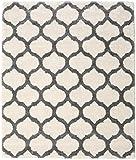 CarpetVista Tapis Berber Shaggy Illusia - Blanc écru/Gris 250x300 Tapis Moderne