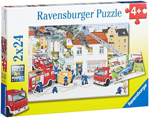 25 Puzzle Ravensburger (Ravensburger 08851 - Bei der Feuerwehr)