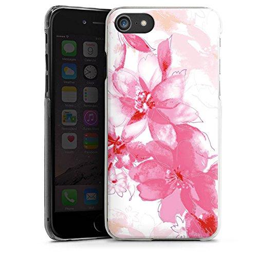 Apple iPhone X Silikon Hülle Case Schutzhülle Blüte Zeichnung Blätter Hard Case transparent
