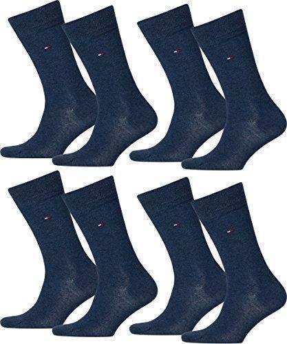 TOMMY HILFIGER Herren Timeless Casual Business Socken 8er Pack  ( Jeans , 43-46 )