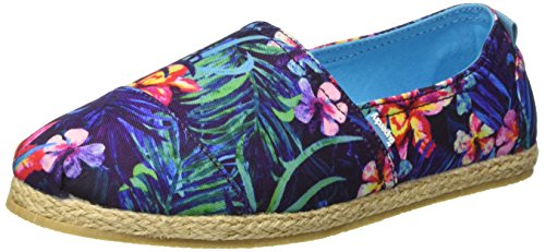 Superdry Jetstream, Espadrilles femme Multicolore (Marbelled Hawaiian Tropical)
