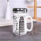 BAIYA 400ML Riutilizzabile E Rispettoso Dell'ambiente Thermos Cup Tazza di caffè Tazze, Cup, Tazza di Ceramica