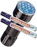 Edding pennarello speciale Edding 8280UV Marker invisibile, 1,5-3mm, incolore, UV Marker + UV Lampe, Confezione da 2